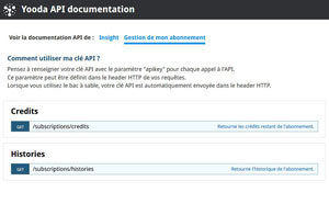 Documentation Abonnement API Insight