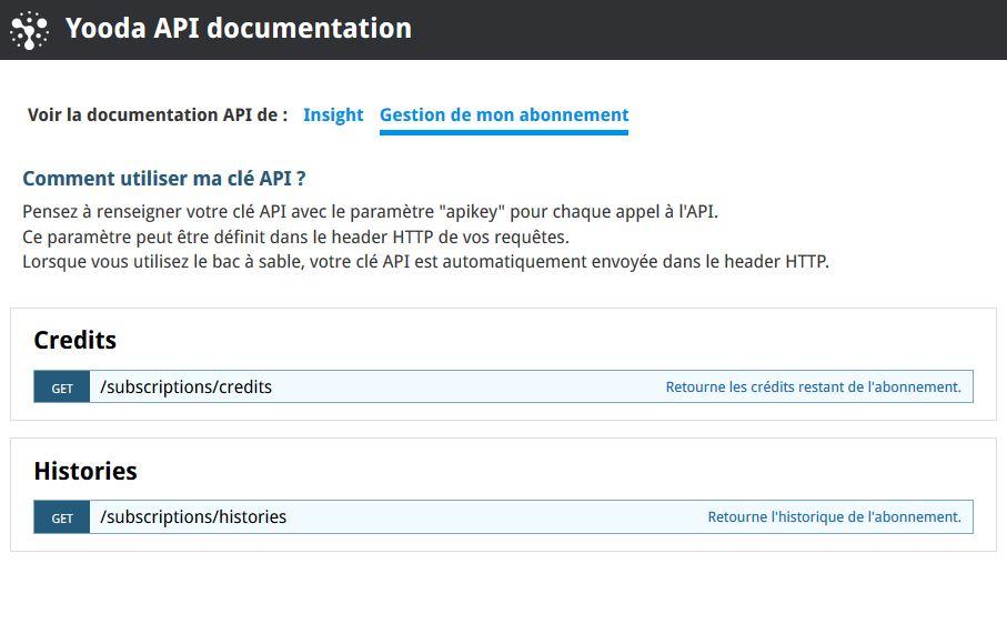 Docummentation Abonnnement API Insight