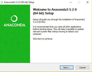 Installation Anaconda Etape 1