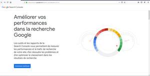 Accueil Google Search Console
