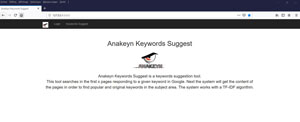 Accueil Anakeyn Keywords Suggest