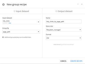 Choix regroupement par page_path