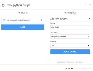 Création Recette Python