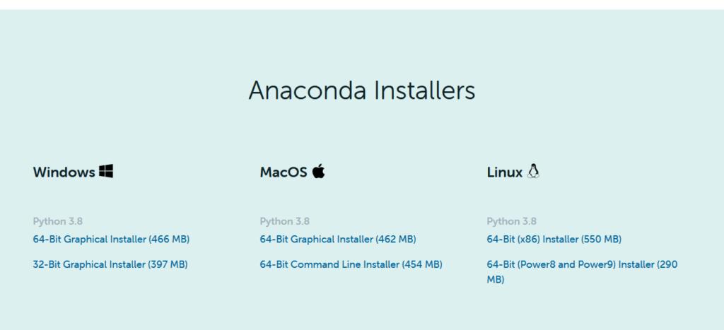 Télécharger Python Anaconda