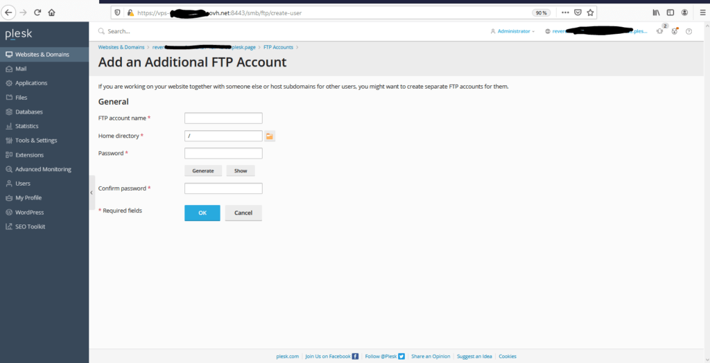 Compte FTP
