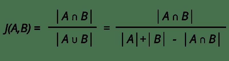 indice de Jaccard